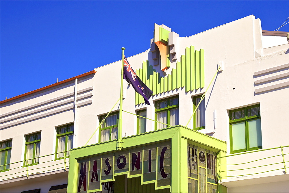 Art Deco Masonic Hotel, Napier, Hawkes Bay, New Zealand, South West Pacific Ocean - 1126-1613