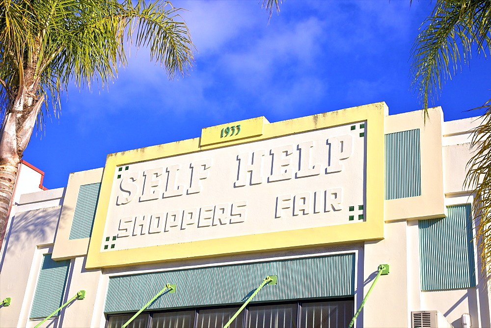 Self Help Shoppers Fair Art Deco Building, Napier, Hawkes Bay, New Zealand, South West Pacific Ocean - 1126-1617