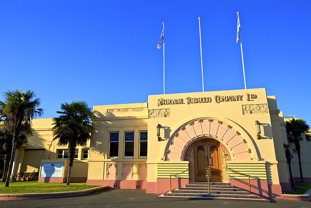 Art Deco National Tobacco Company Building, Ahuriri, Napier, Hawkes Bay, New Zealand, South West Pacific Ocean - 1126-1618
