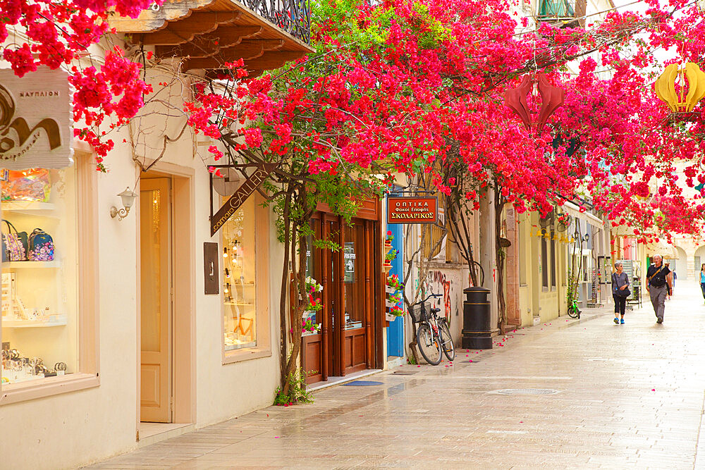 Shops in the Old Town of Nafplio, Argolis, The Peloponnese, Greece, Southern Europe