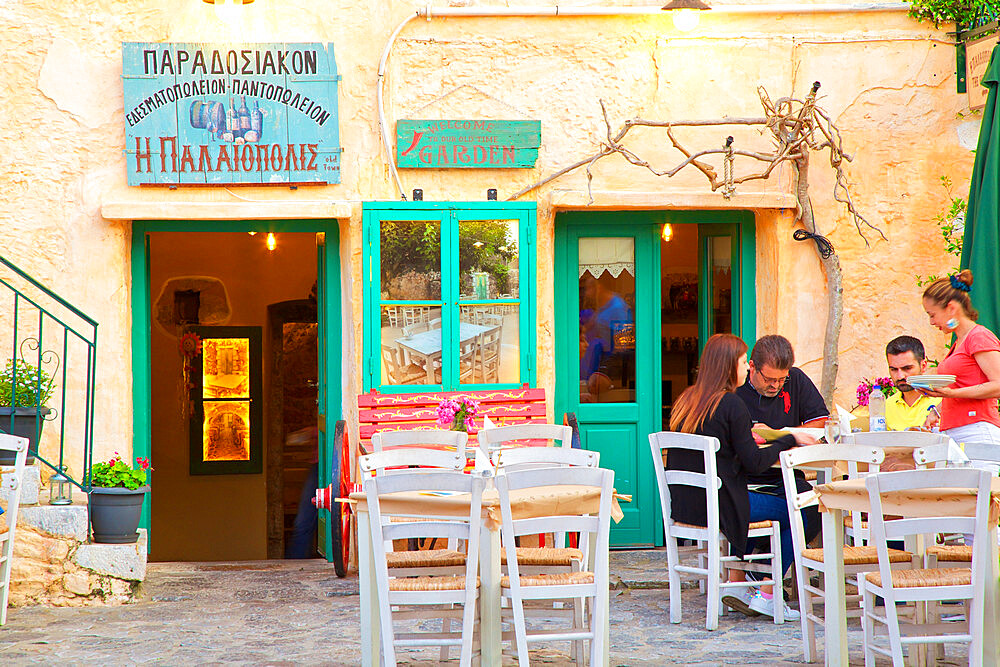 Restaurant in Areopoli, Mani Peninsula, The Peloponnese, Greece, Southern Europe - 1126-1693