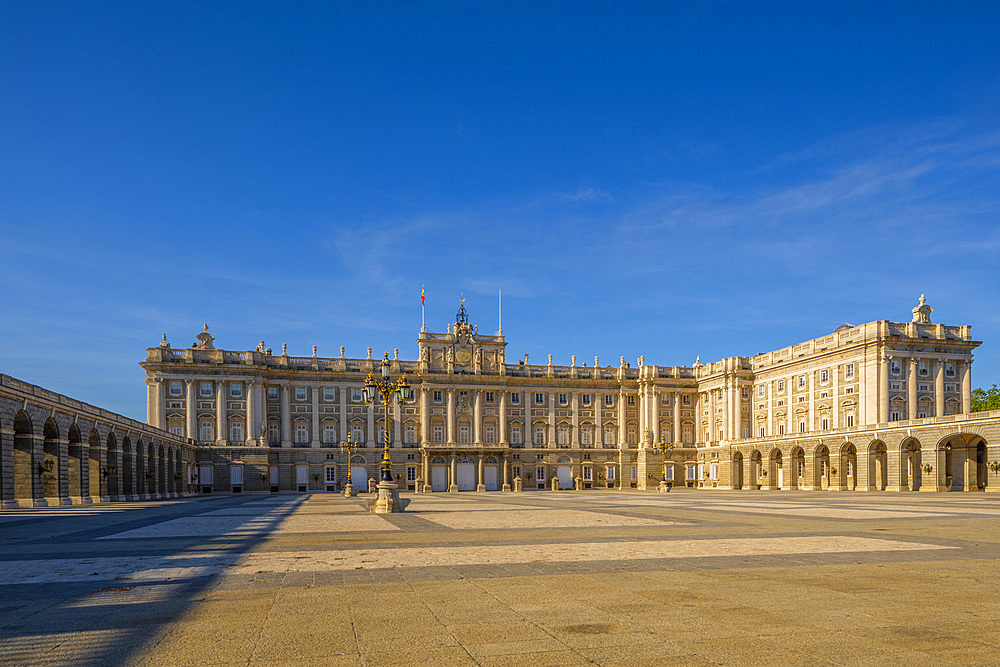 The Exterior of The Royal Palace, Madrid, Spain, South West Europe,
