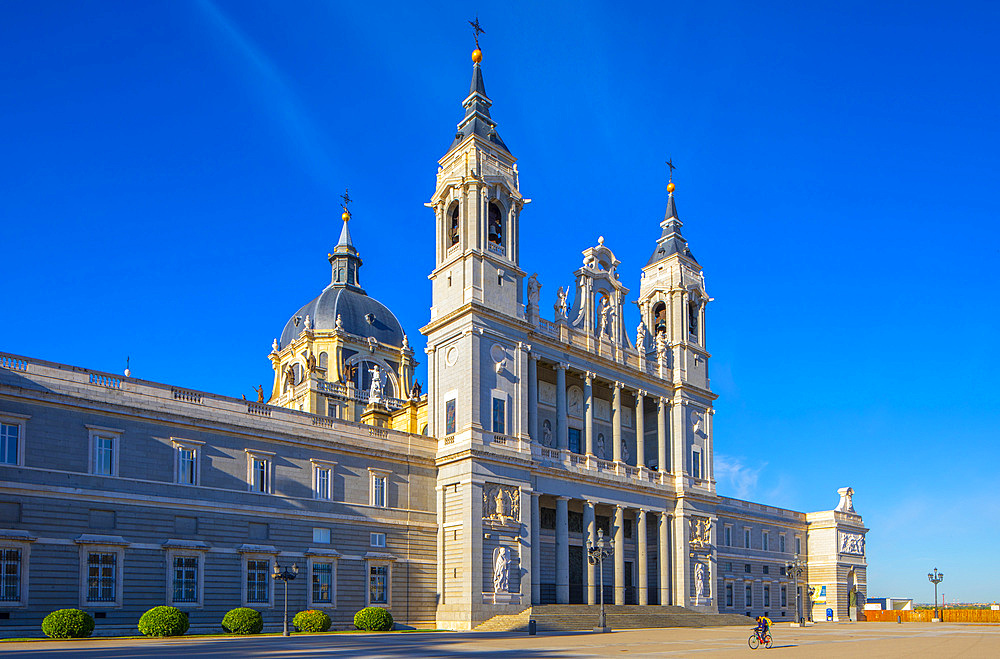 Exterior of Almudena Cathedral, Madrid, Spain, South West Europe