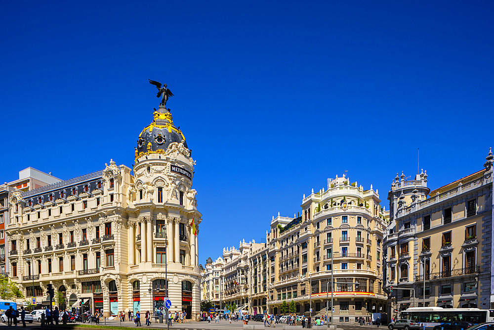 Exterior of Metropolis Building, Madrid, Spain, South West Europe