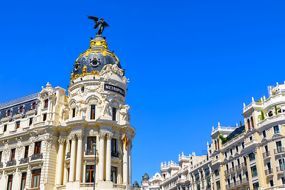 Exterior of Metropolis Building, Madrid, Spain, Europe