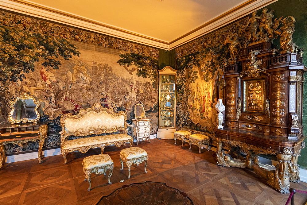 Christian VI's Room, Rosenborg Castle, Copenhagen, Denmark, Scandinavia, Europe