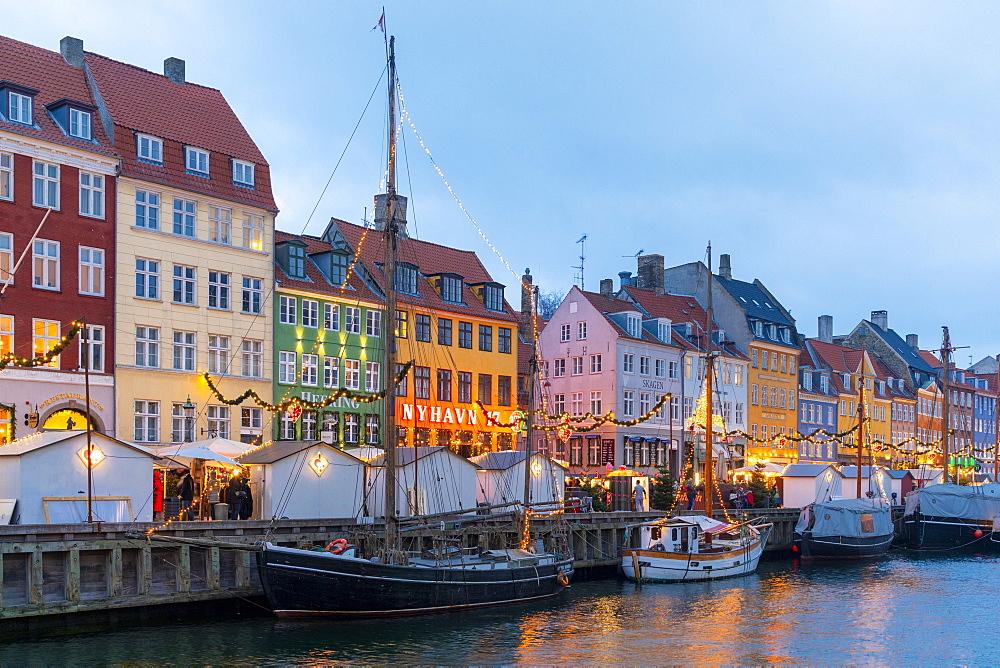 Christmas Market in Nyhavn, Copenhagen, Denmark, Scandinavia, Europe - 1126-1873