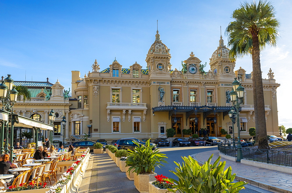 Monte Carlo Casino and Cafe de Paris, Monte Carlo, Monaco, Mediterranean, Europe