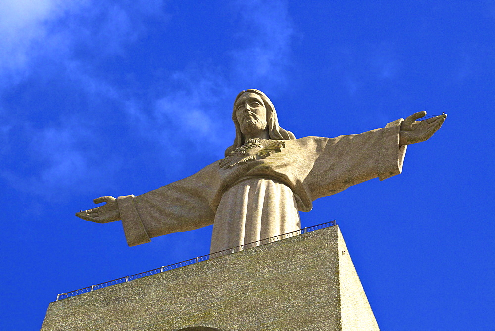 Statue of Christ, Cristo Rei, Lisbon, Portugal, South West Europe
