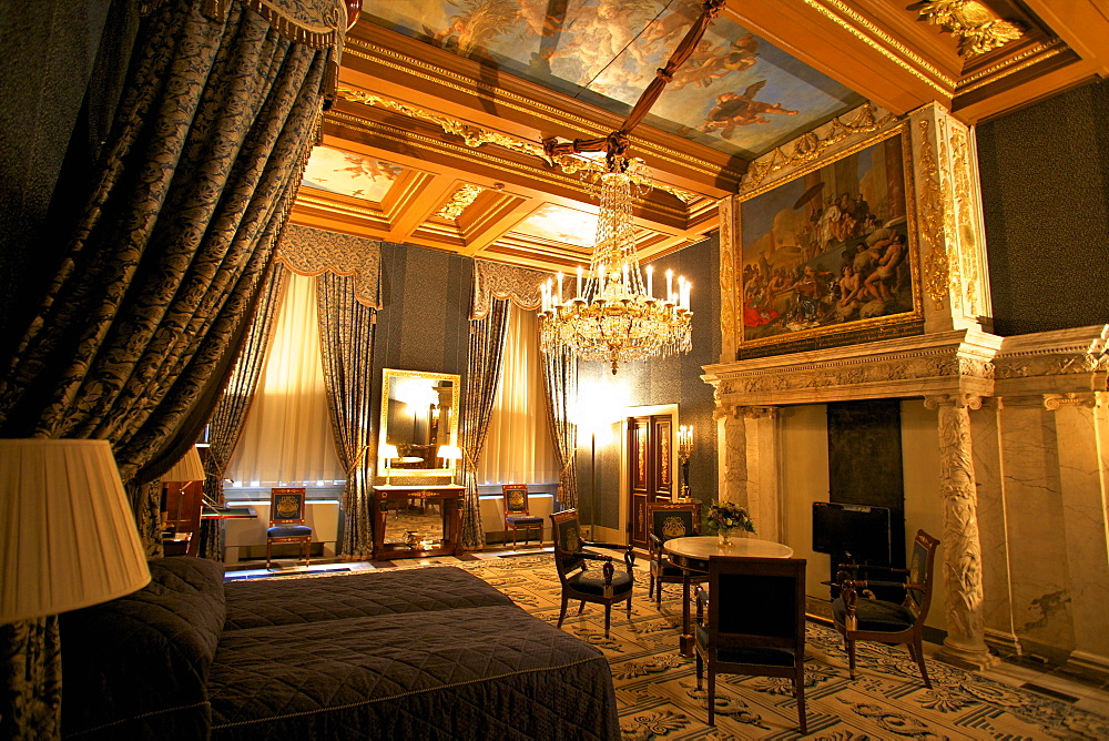 Bedroom in Royal Palace, Amsterdam, Netherlands, Europe