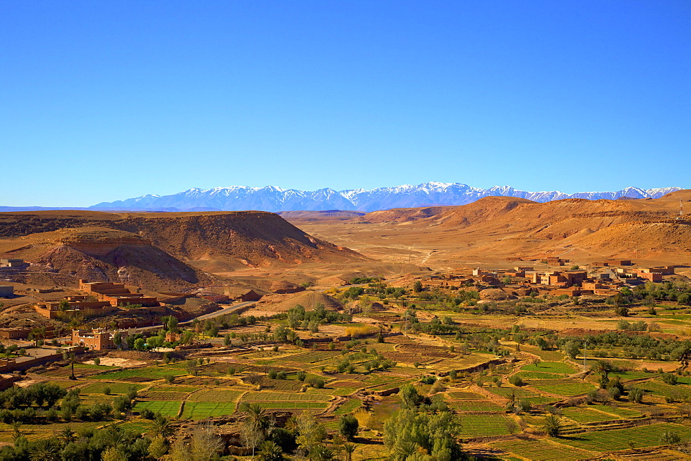 Atlas Mountains, Ait-Benhaddou, Morocco, North Africa, Africa