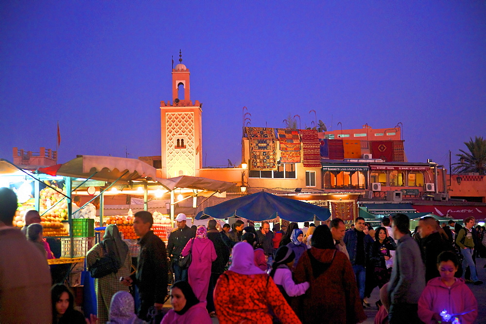 The Night Market, Jemaa El Fna Square, Marrakech, Morocco, North Africa, Africa
