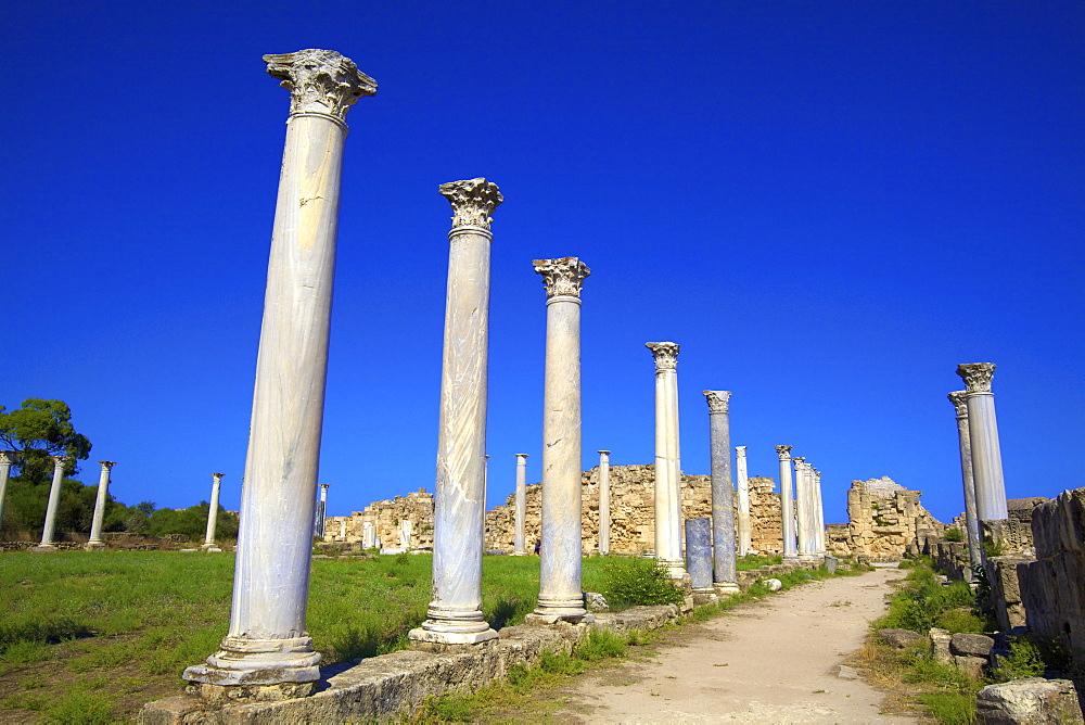 Colonnades of the Gymnasium, Salamis, North Cyprus, Cyprus, Europe
