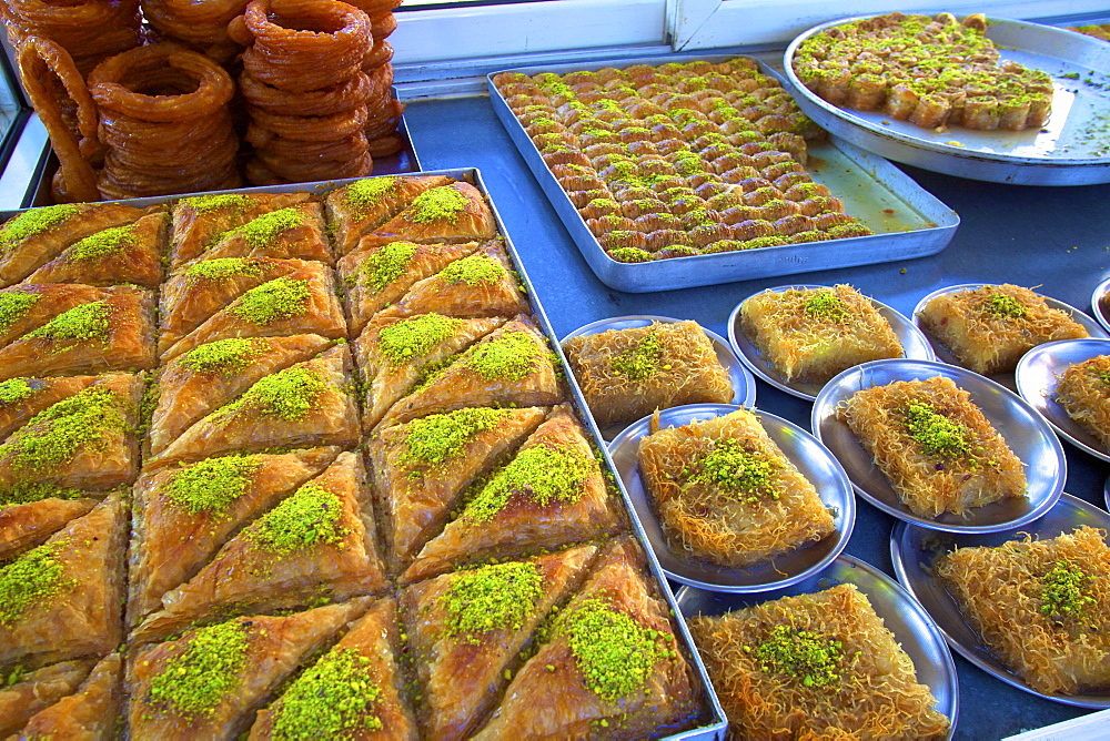 Turkish pastries, Lefkosa (Nicosia), North Cyprus, Cyprus, Europe