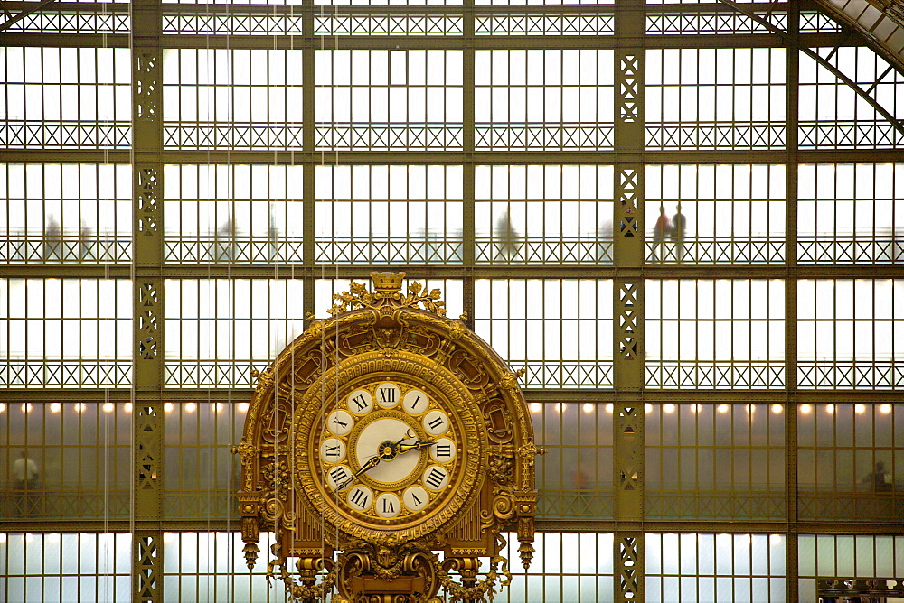 Musee d'Orsay clock, Paris, France, Europe