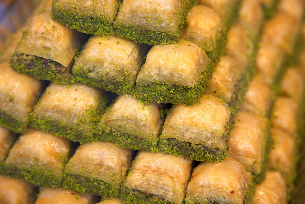 Baklava Shop, Istanbul, Turkey, Europe