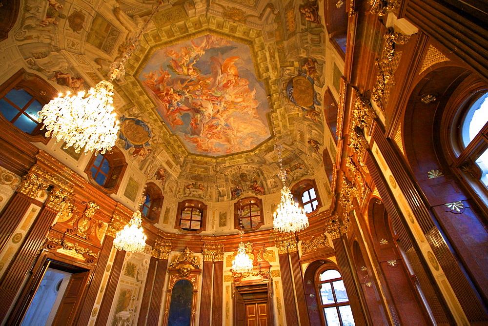 Interior of Belvedere Palace, UNESCO World Heritage Site, Vienna, Austria, Europe