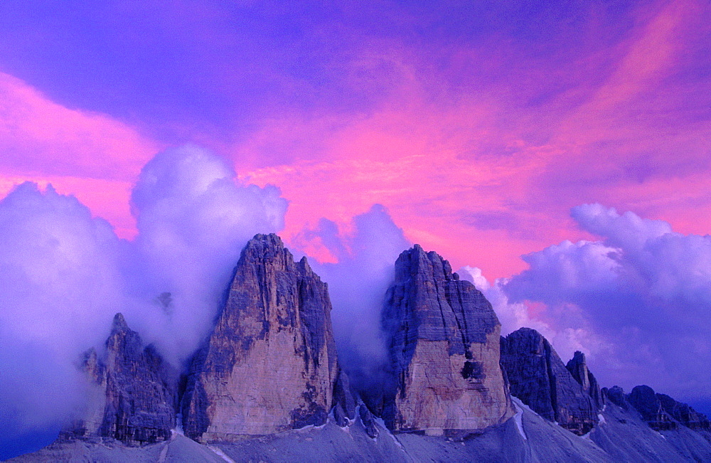 Three Chimneys, Lavaredo, Dolomites, South Tyrol, Italy