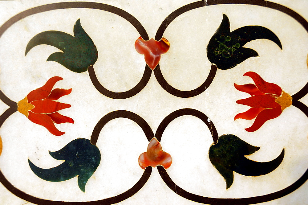 Marble inlay work, Taj Mahal, Agra, Uttar Pradesh, India  - 1127-13311