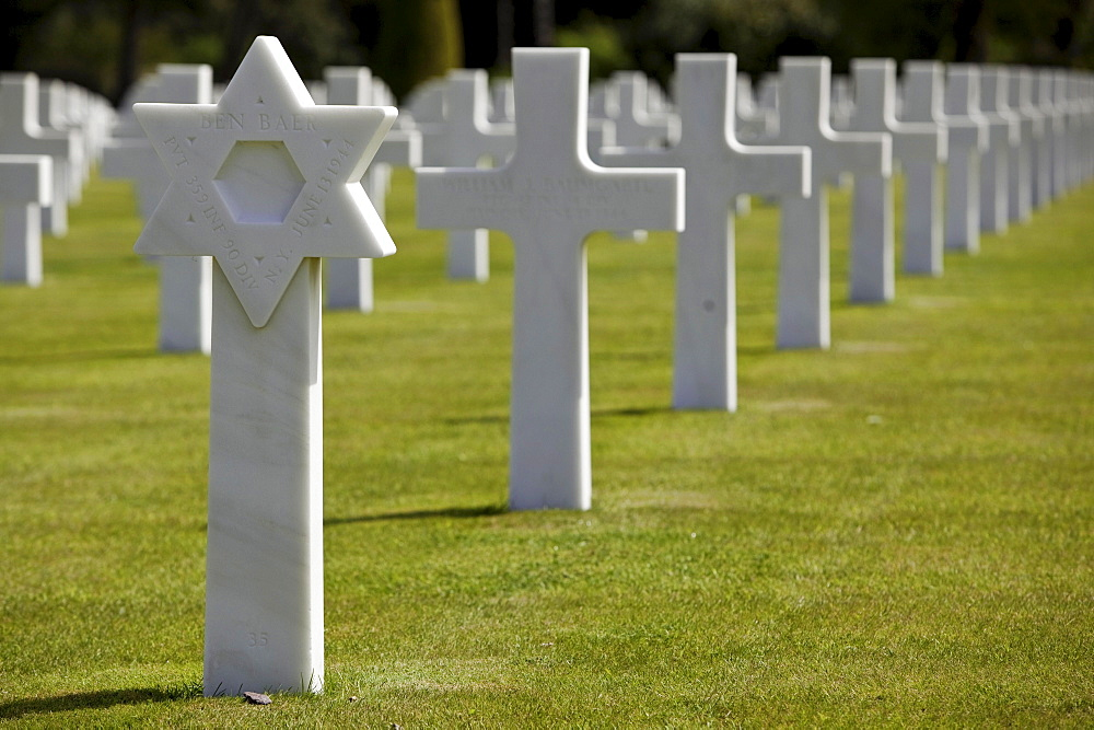 Soldier cemetery, Colleville sur mer, Normandy, France