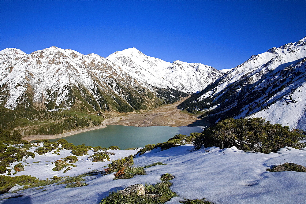 Great Almatine lake, Tien Shan Mountains, Kazakhstan Kazakhstan / Tian Shan Mountains