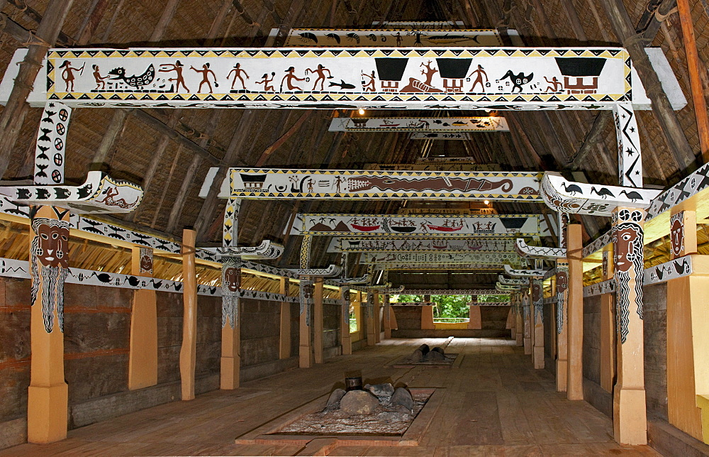 Men's house, meeting place for men and headman, Palau, Micronesia, Bismarck Archipelago