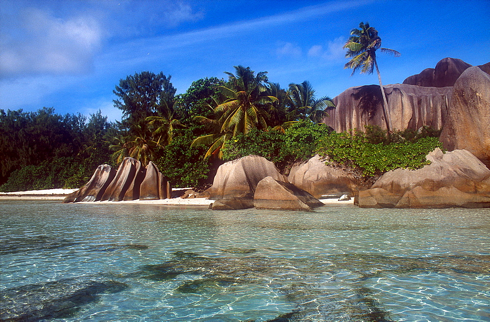 Lagoon, beach, La Digue, Seychelles  - 1127-15488