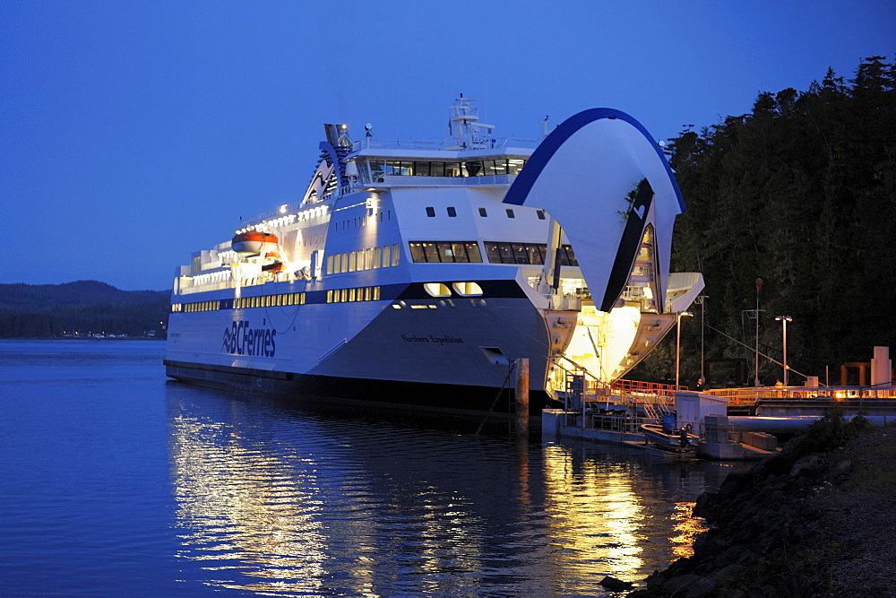 Ferry boat Northern Expedition, harbour Port Hardy, Vancouver Island, Inside Passage, British Columbia, Canada