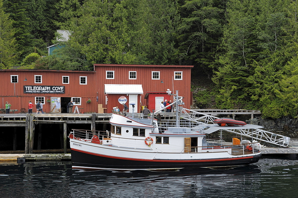 Pleasure boat, Telegraph Cove, Vancouver Island, British Columbia, Canada