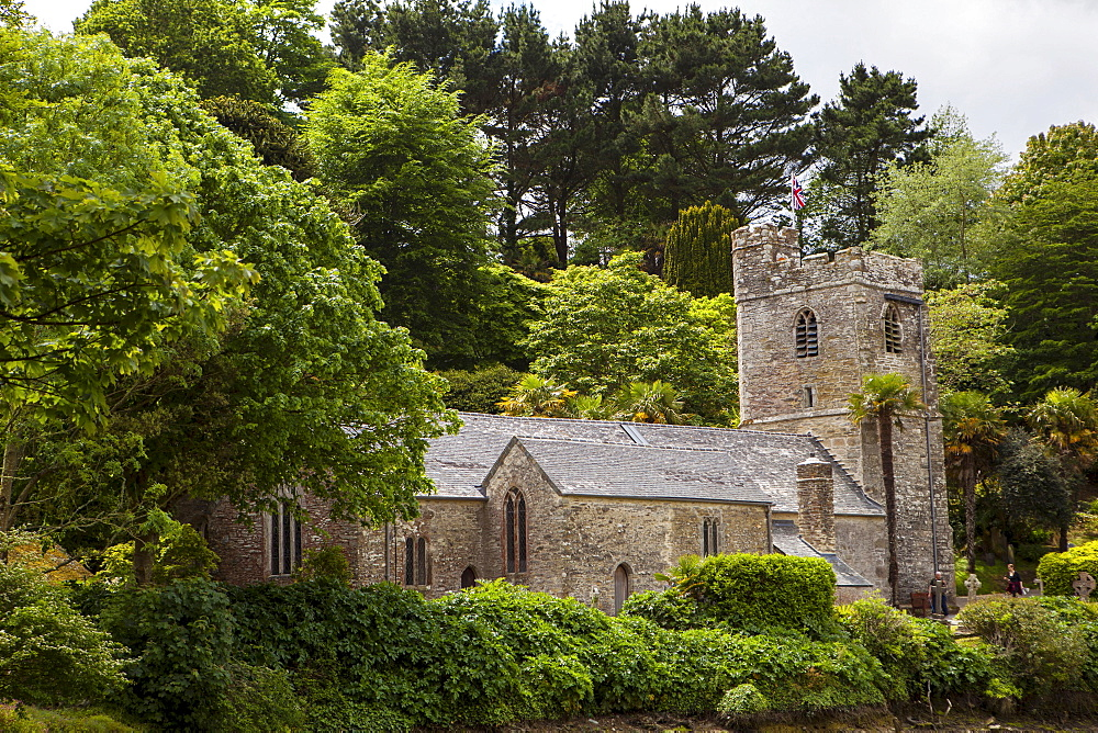 Church, St Just in Roseland, Cornwall, England