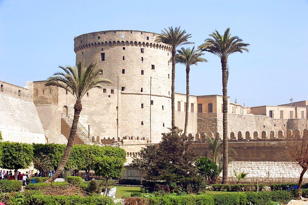 Saladin Citadel, wall, medieval islamic fortification, Cairo, Egypt