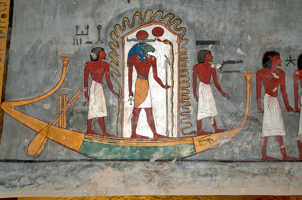 High quality stock photos of tomb of ramses i for Egypt mural painting
