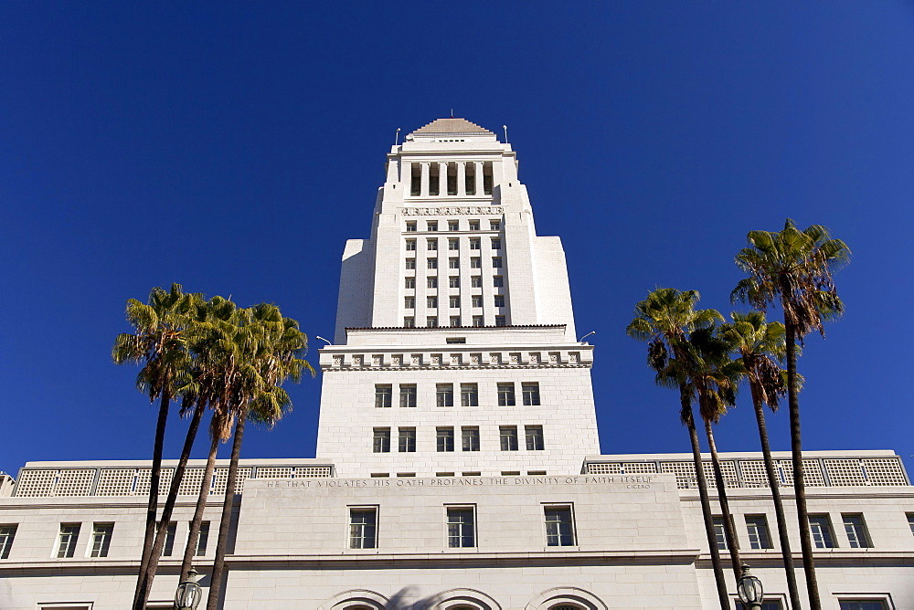City Hall, Downtown Los Angeles, California, USA / L.A. - 1127-17068