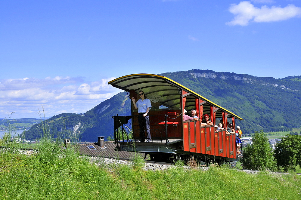 Stanserhorn Railway, rack-and-pinion railway, rack railway, Stans, Nidwalden, Switzerland / Stanserhorn-Bahn, Stanserhorn Bahn - 1127-17206