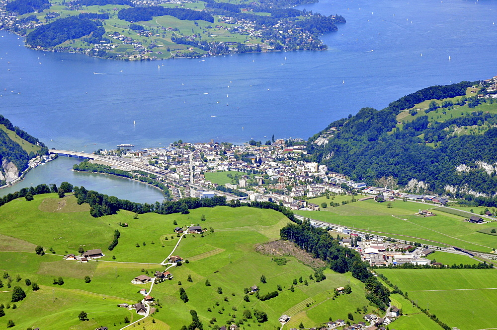 Lake Lucerne, Furigen, Stansstad, Nidwalden, Switzerland / Vierwaldstättersee, Lake of the Four Forested Cantons