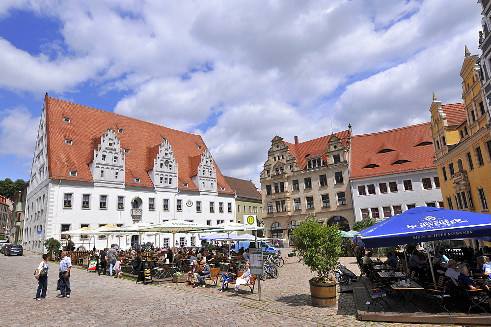 City Hall, market square, old town, Meissen, Saxony, Germany