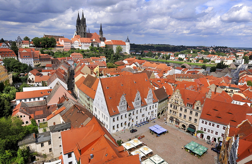 Meissner Dom, cathedral church, Albrechtsburg, Domberg, old town, Meissen, Saxony, Germany / Meissen Cathedral