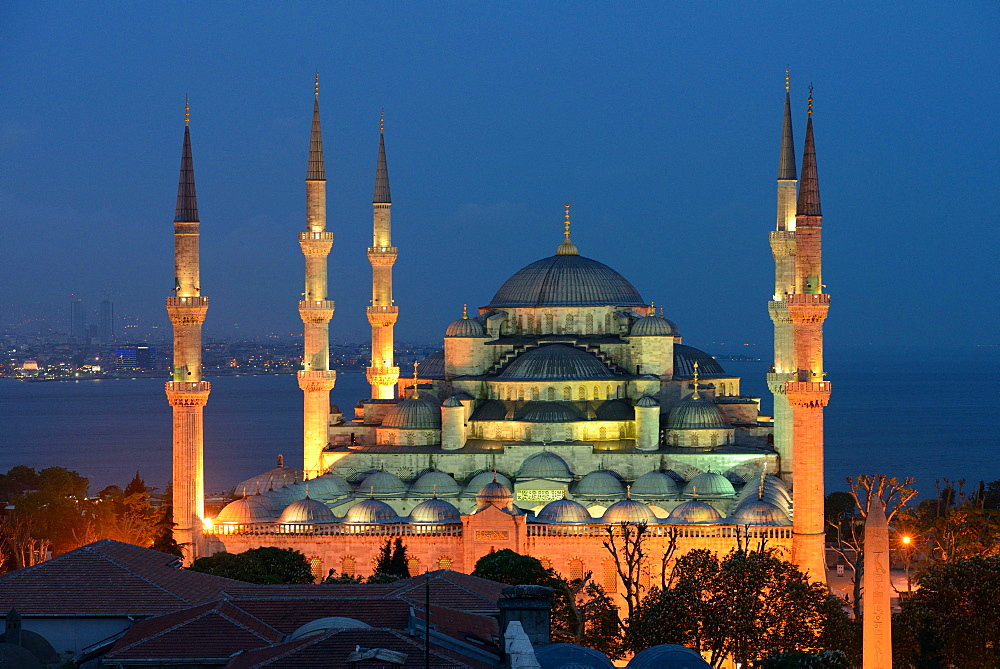 blue mosque, Sultan-Ahmed-Mosque, Istanbul, Turkey