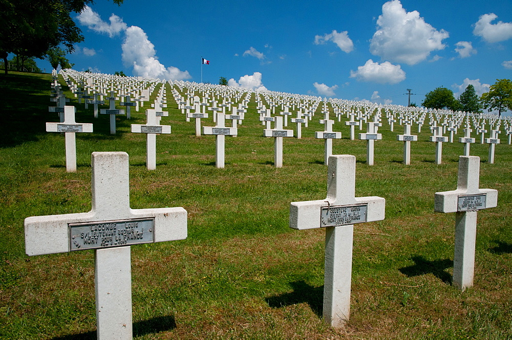 French war cemetery Craonelle, Chemin des Dames, Picardie, France