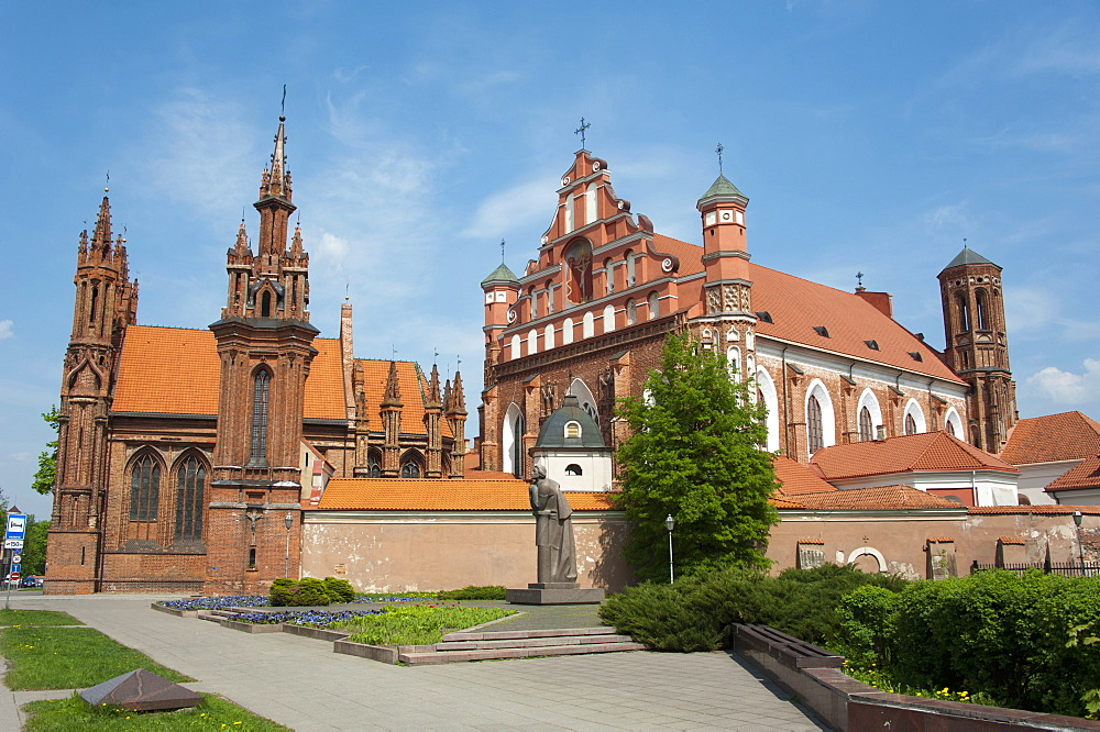 The Gotic Ensemble, Church of St. Ann and Bernadines church, Vilnius, Lithuania, Baltic states, Europe