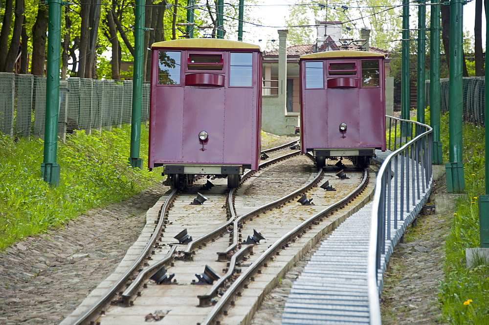 Cable car, Kaunas, Lithuania, Baltic states, Europe / funicular railway