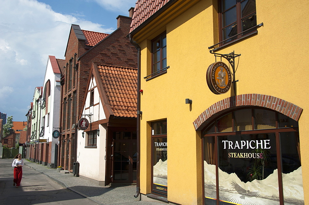 Old town near Friedrich passage, Klaipeda, Lithuania, Baltic states, Europe
