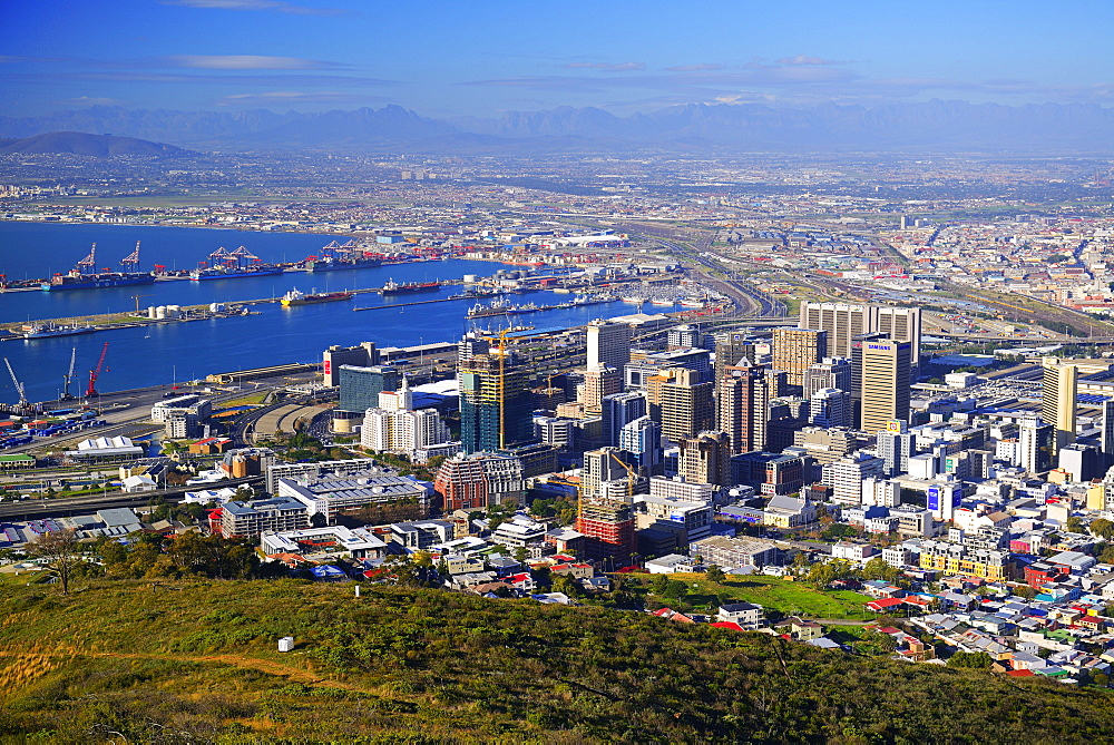 Towncentre of Cape Town, view from Signal Hill, Cape Town, Western Cape, South Africa, Africa
