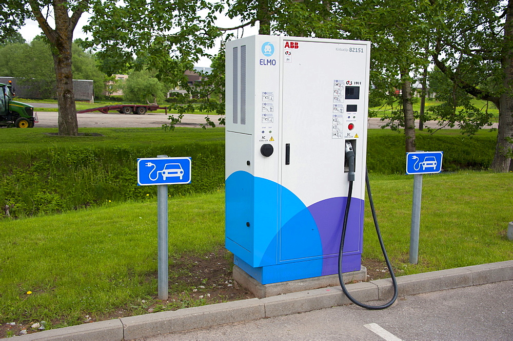 Electricity Filling Station, Valga, Estonia, Baltic states, Europe