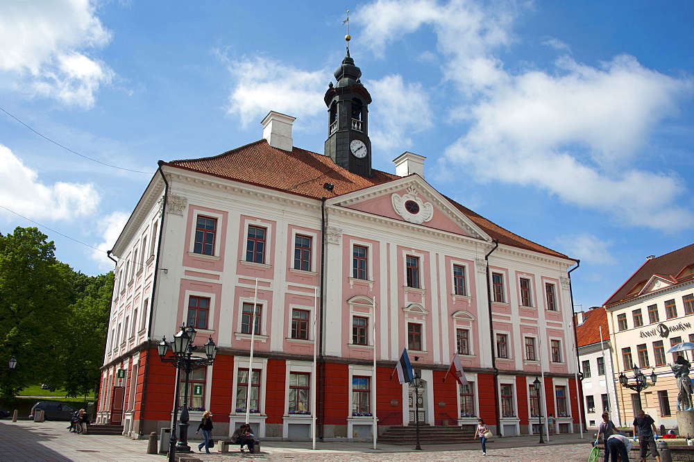 Town hall, Tartu, Estonia, Baltic states, Europe