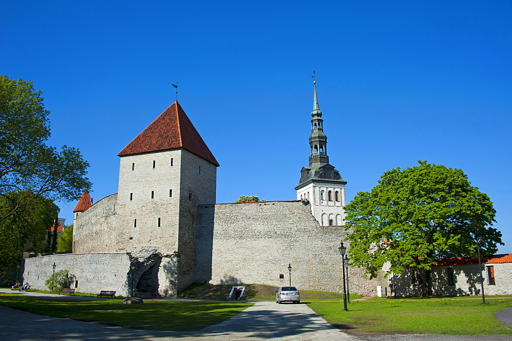 Town wall, Tallinn, Estonia, Baltic states, Europe / city wall, Toompea hill