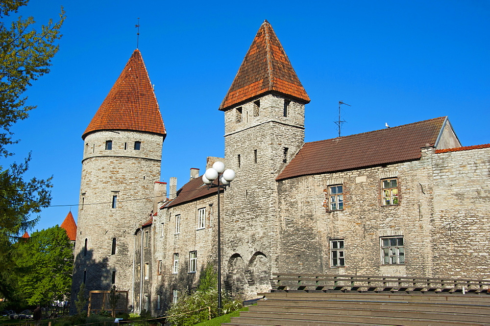 Town wall, Old town, Tallinn, Estonia, Baltic states, Europe / city wall