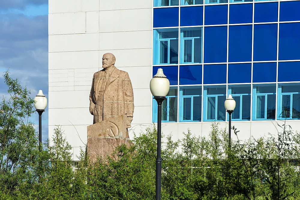 Lenin Statue in front of the Child Creativity Palace, Siberian City Anadyr, Chukotka Province, Russian Far East