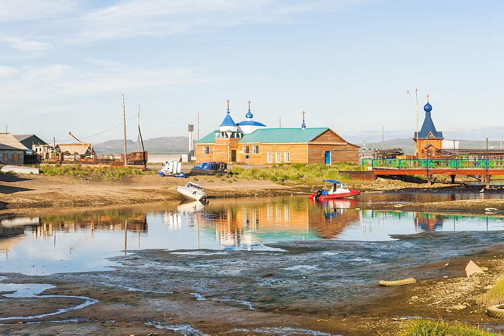 Siberian City Anadyr harbour, Chukotka Province, Russian Far East