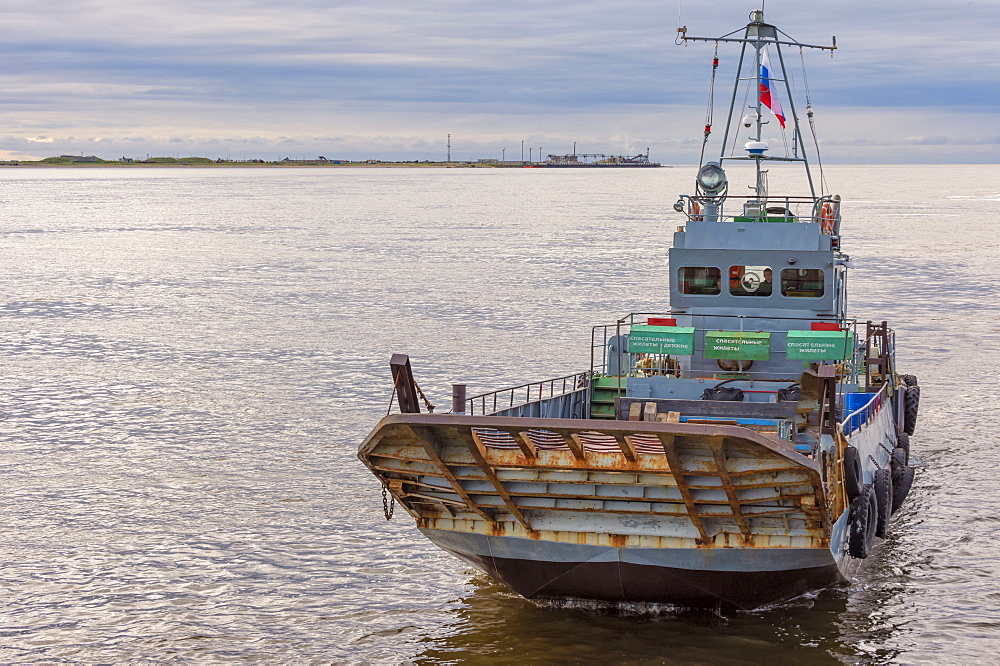 Ferry in the Anadyr harbour, Chukotka Province, Russian Far East